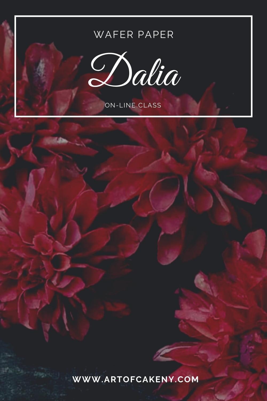 AkademiaTortu Beata Tomasiewicz Dalia Wafer Paper Flower Pin