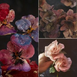 Wafer Paper Rose Hydrangea Pansy