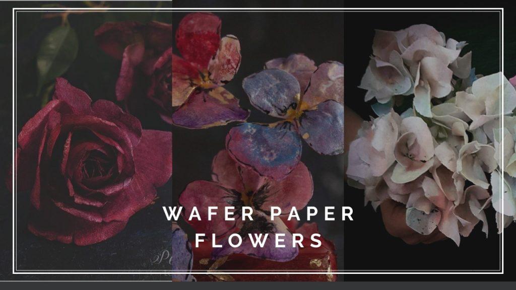 ArtOfCakeNY Beata Tomasiewicz Rose Pansy Hydrangea Wafer Paper Flower