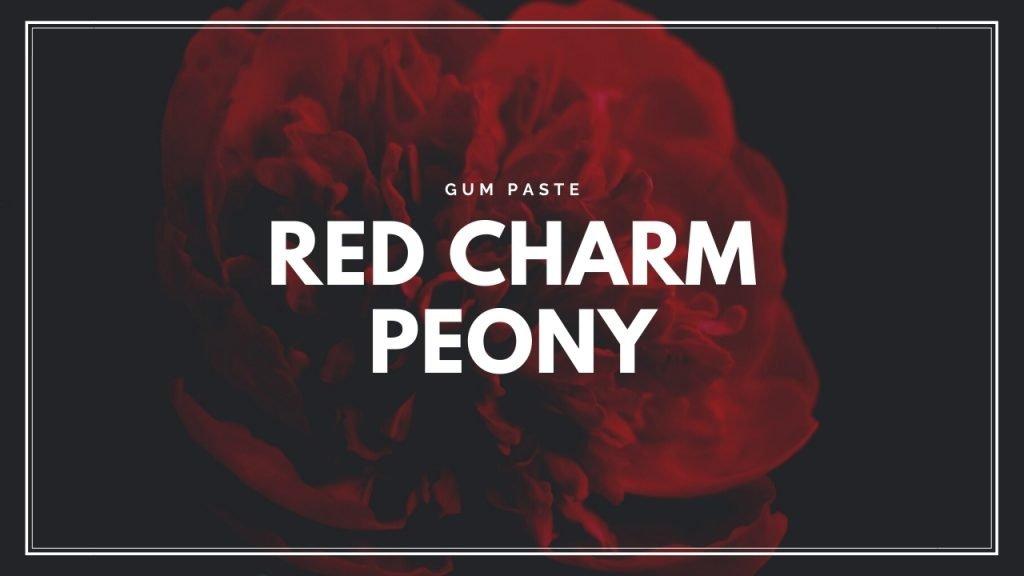 ArtofCakeNY Red Charm peony