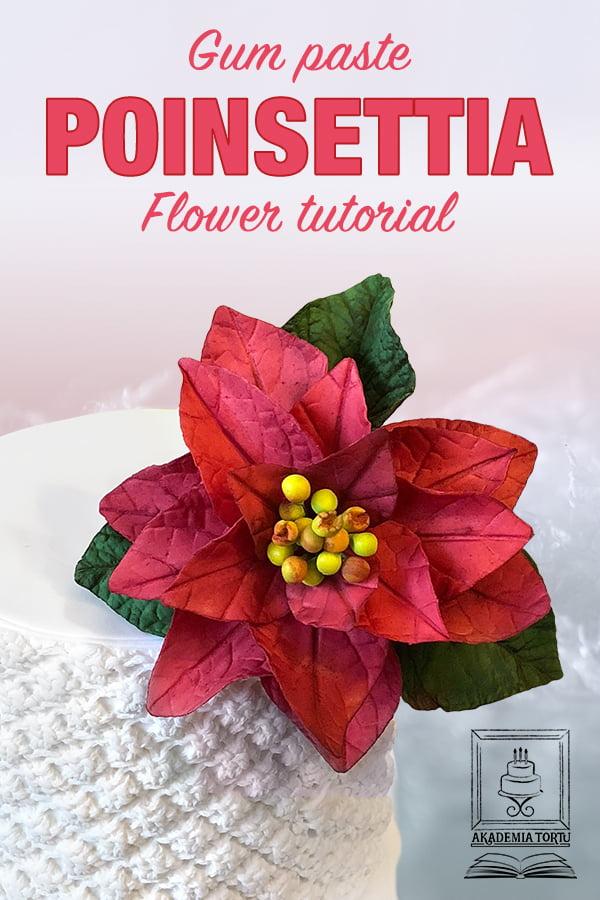 Edible Poinsettia Tutorial Pin
