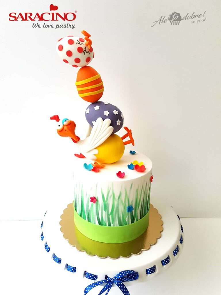Cake with Easter Egg Topper